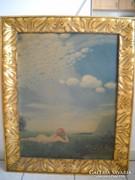 Antik nagy olajkép, festmény  eladó!Szinyei Merse Pál: A pacsirta