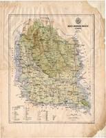 Bács - Bodrog megye térkép 1886, Magyarország, vármegye, atlasz, Kogutowicz Manó, 43 x 56 cm