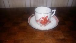 Herendi antik Apponyi mintás kávés csésze aljával
