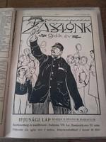 Antik évkönyv - ZÁSZLÓNK  ifjúsági lap, VIII. évfolyam 1909-1910 összes száma egybekötve-ÚJSÁG