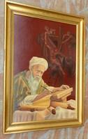 Jézus levétele a keresztről - Biblia részlet - csodás jelzett olajfestmény