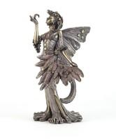 0N790 Strasszköves tünde szobor 16 cm