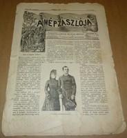 A Nép Zászlója 1889 november 7.,régi, antik újság, politika, korabeli hírek, XIX. század