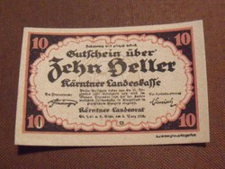Nyomdatiszta 10 Heller 1920