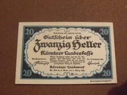 Nyomdatiszta 20 Heller 1920
