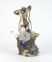 0N801 HGM jelzéssel művészi akt torzó szobor 23 cm