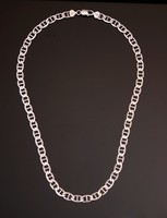 Gyönyörű, Gucci fazonú férfi ezüst nyaklánc (55 cm)