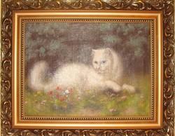 Boleradszky Benő: Fehér perzsa macska