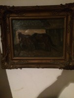 Antik lovas festmeny chiovini ferenc
