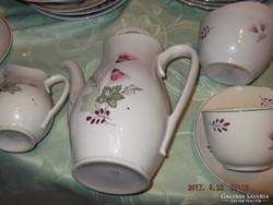 Csodaszép  hollóházi teás 4személyes 4 csésze alátéttel kiön