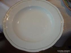 Csodaszép nyomott mintás kínálós tányér 33 cm német jelzett