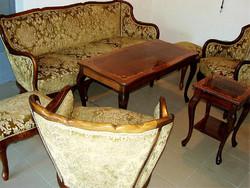 Szép állapotú 12 db-os nappali ülő- és szalongarnitúra
