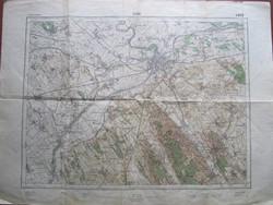 1931-es kiadás Győr és környéke antik térkép , Győrszentmárton