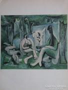 "Picasso eredeti ""elegye"" két oldalon!"