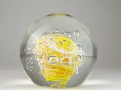 0N810 Hatalmas üveg levélnehezék buborékokkal 2 kg
