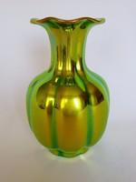 Zsolnay Arany-Zöld Eozin Váza