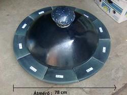 Henger alakú kupolás művész cserépkályha kobaltkék színben - jelzett !
