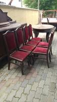 Barokk stílusú Kozma féle  tálaló,asztal,székek eladó.