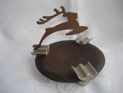 Art deco hamutartó szarvas figurával