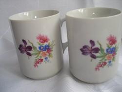 Zsolnay porcelán virágos bögrék( 2 db)