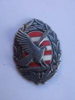 Katonai Akadémia- árpádsávos turul-zománc jelvény