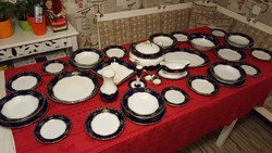 Zsolnay Pompadur I. porcelán étkészlet 6 személyre / 34 db.-os