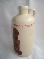 Régi fajansz likőrös flaska