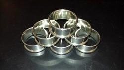 Ezüst 6 darabos szalvétagyűrű szett