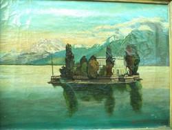 Jelzett német vagy svájci festmény Antik I Portmann