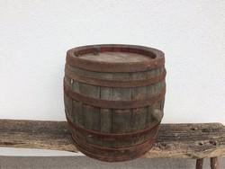 Régi fa hordó boroshordó kis méretű 39 cm vintage dekoráció