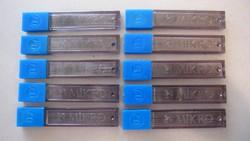 Régi MIKRO irónbetét, ceruza bél, 100 db 0,7 x 60 mm-es HB, 10 db kapszulában