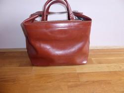 Retro bőr utazó táska, extra erős  1970-es 80-as évek