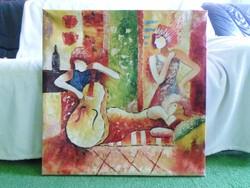 Olaj vászon festmény 60 x 60
