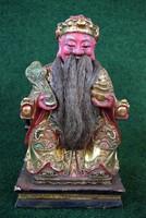 Aranyozott, festett, részletesen kifaragott, kínai szobor!!!