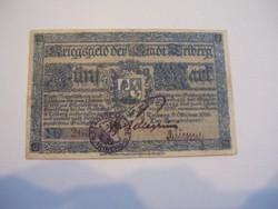 5 Márka Freiburg 1919 Felülbélyegze, aláírva.