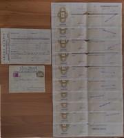 Grosz Henrik - bútor kereskedő - 10 darab váltó + fizetési meghagyás + boríték - így egyben RITKA!