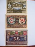 Németország Pfennig sor 3db IV.