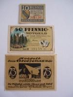 Németország Pfennig sor 3db IX.
