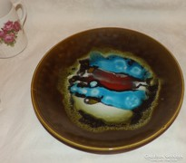 Granit mázas kerámia fali tányér