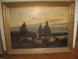 Pállik Béla (1845-1908): Hazatérő nyáj
