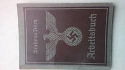 Német  Második világháborús munkakönyv 1941: WW2 Arbeitsbuch