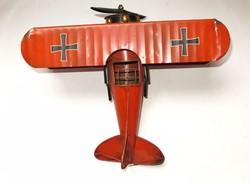 Duplaszárnyú I. vh-s fém repülőmodell...