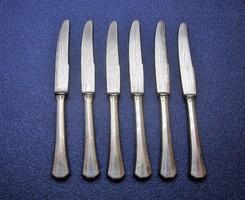 Antik ezüstnyelű desszert kés 6 db