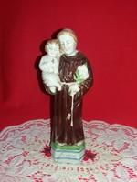Régi német Gräfenthal porcelán figura  Szent Antal kis Jézussal 21 x  8 cm
