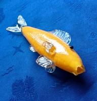 Muranoi sárga hal 80 éves nagyon szép hibátlan !