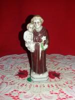 Régi német Bertram porcelán figura  imádkozó Szent Antal kis Jézussal 12 x  5 cm