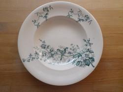 Antik francia Longwy Mignon fajansz tányér mélytányér