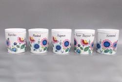 Német porcelán fűszertartó 5 db.