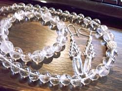 Hegyikristály 3 részes ékszerszett