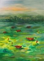 TAVIRÓZSÁK - csodálatos eredeti olajfestmény a művésztől!